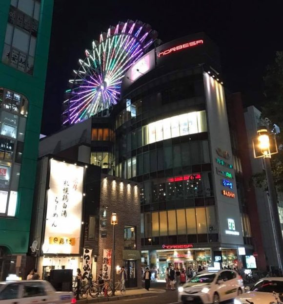 札幌大通のノルベサビルと観覧車ノリア