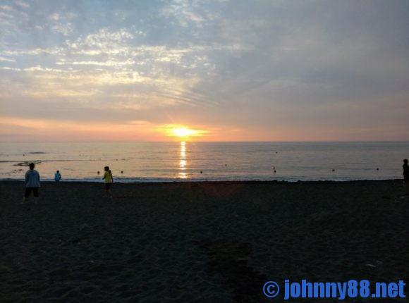 留萌ゴールデンビーチの夕陽