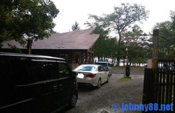 支笏湖美笛キャンプ場に早朝行ったときの列