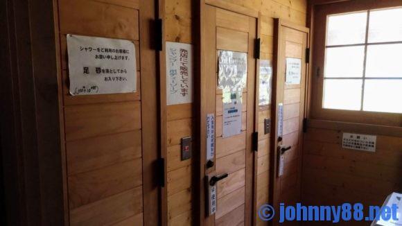 美笛キャンプ場のシャワールーム