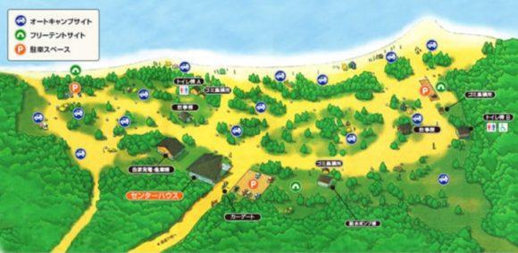 支笏湖美笛キャンプ場MAP