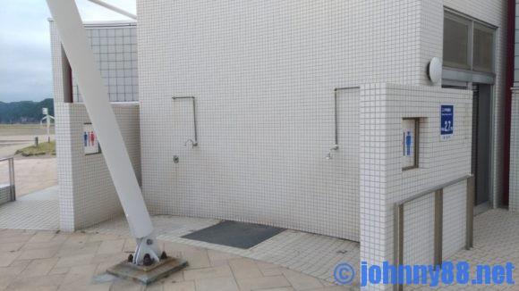 豊浦海浜公園キャンプ場のシャワー