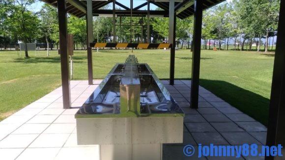 ベルパークちっぷべつ公園キャンプ場の炊事棟