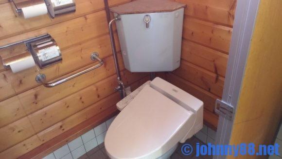 ベルパークちっぷべつ公園キャンプ場のトイレ