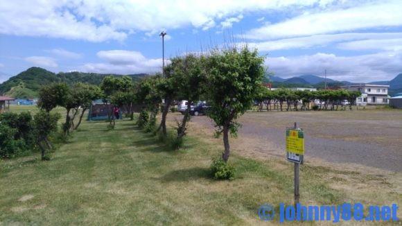 浜益川下海浜公園の駐車場