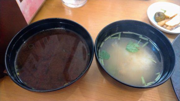 玉藤の味噌汁