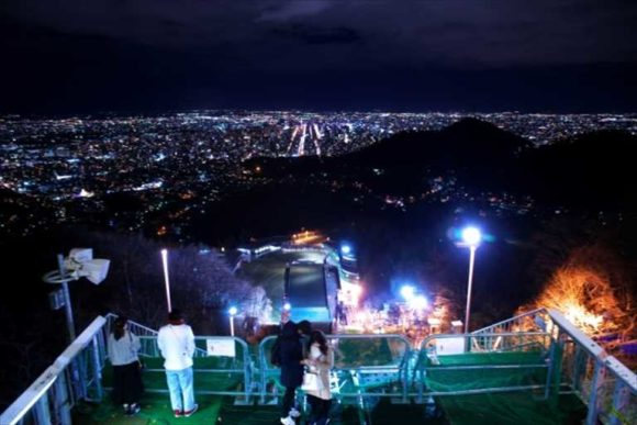 大倉山ジャンプ競技場から見た夜景
