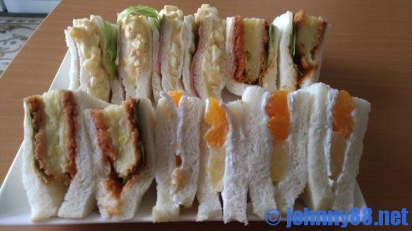 サンドリアのサンドイッチ盛り合わせ