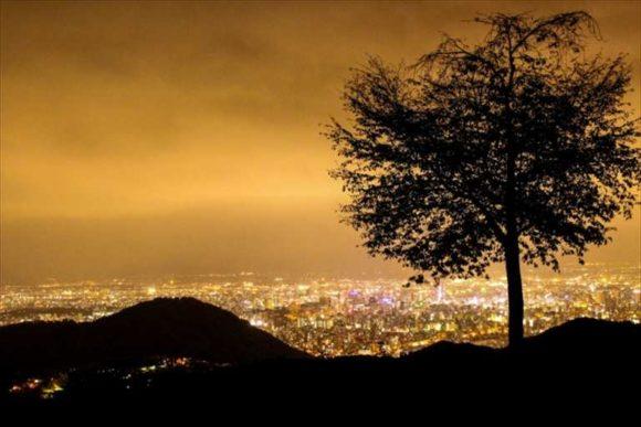 幌見峠から見る札幌の夜景