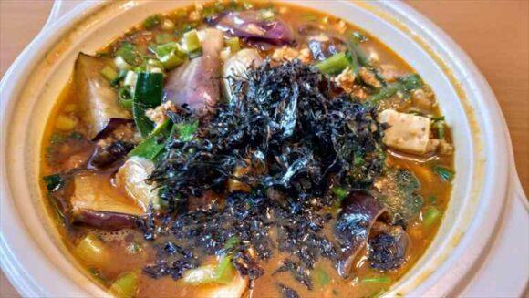 茄子ニラキーマ豆腐のスープカレー