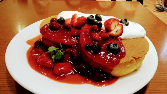 イシヤカフェのパンケーキ