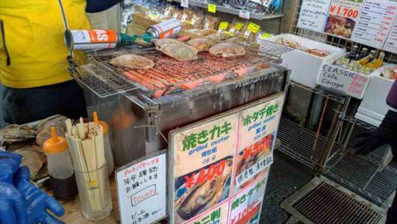 二条市場で食べ歩き