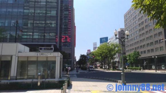 大通公園の温度計