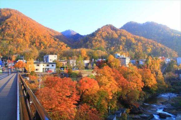 10月の定山渓温泉