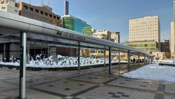 札幌駅北口タクシー乗り場への通路