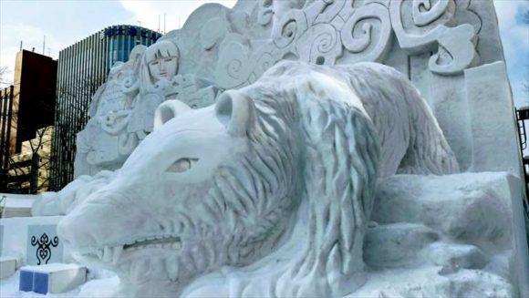 さっぽろ雪祭り2020「大通公園4丁目」雪像