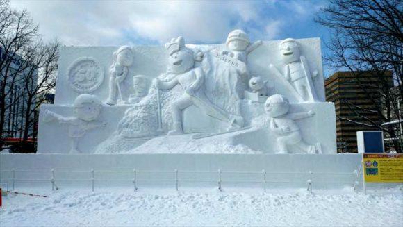 さっぽろ雪祭り雪像「大通公園10丁目」