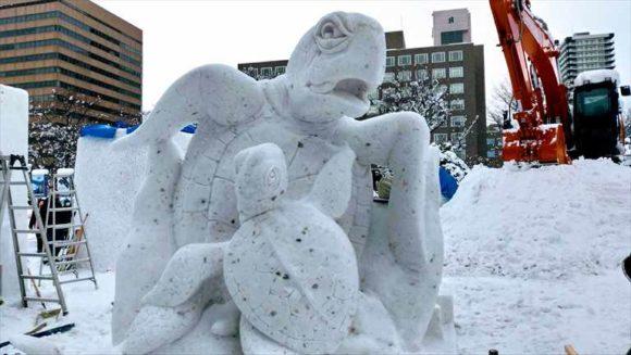 国際雪像コンクール3日目