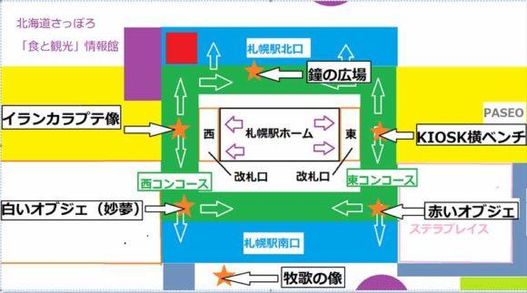 札幌駅待ち合わせ定番スポット