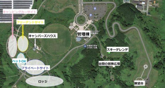宗谷ふれあい公園オートキャンプ場(稚内)のサイトマップ