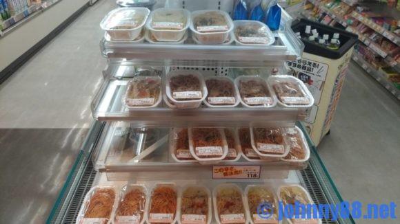 セイコーマートの100円麺売り場