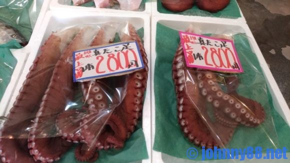 海の駅ぷらっとみなと市場で販売されているたこ足