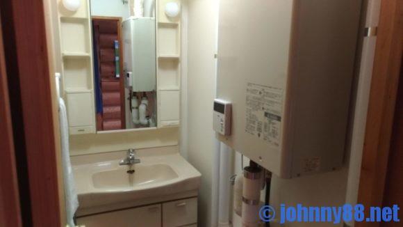 オートリゾート苫小牧アルテンのログハウス洗面所