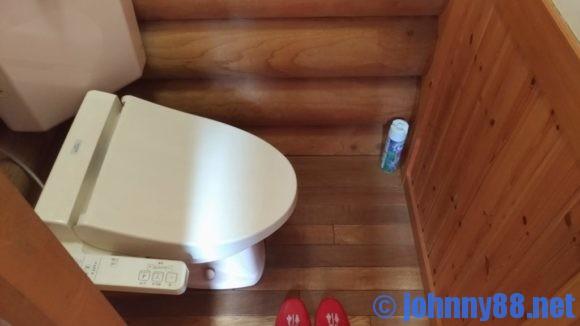 オートリゾート苫小牧アルテンのログハウスのトイレ