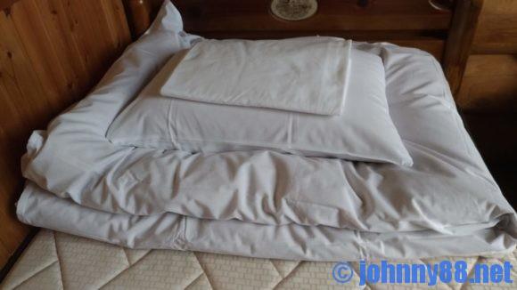 オートリゾート苫小牧アルテンのログハウス寝室