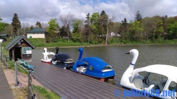鶴沼公園キャンプ場スワンボート