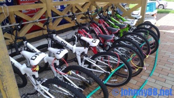 まあぶオートキャンプ場のレンタル自転車