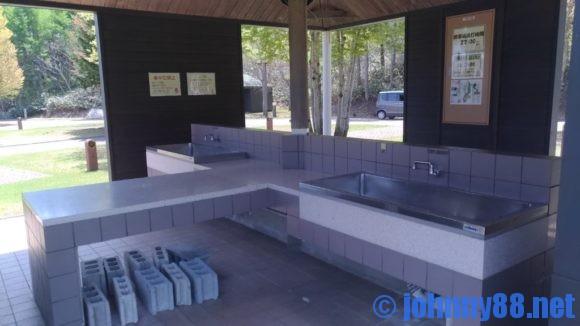 オートリゾート滝野のカーサイト炊事棟