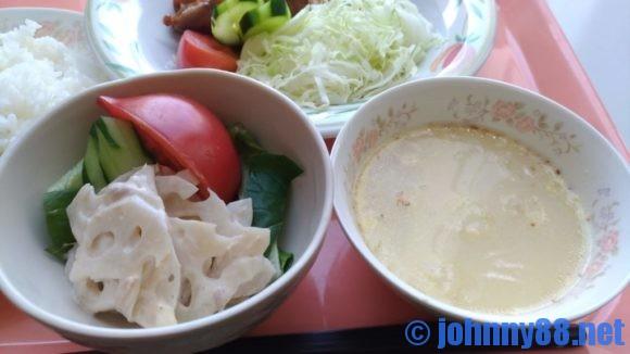 清田区役所食堂のランチ小鉢