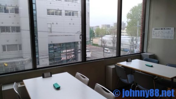 札幌東区役所食堂座席