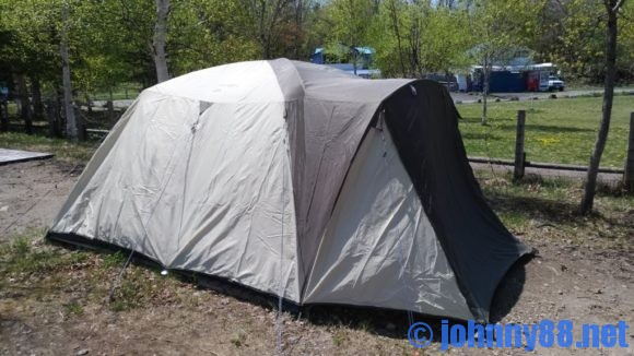 モラップキャンプ場(支笏湖)のレンタルテント