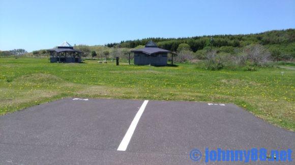 宗谷ふれあい公園オートキャンプ場のフリーテントサイト