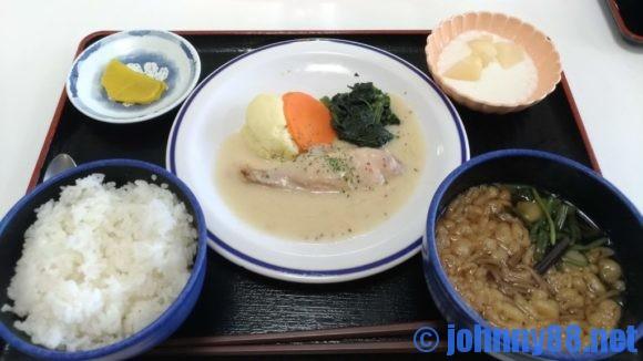 札幌白石区役所食堂のそば定食