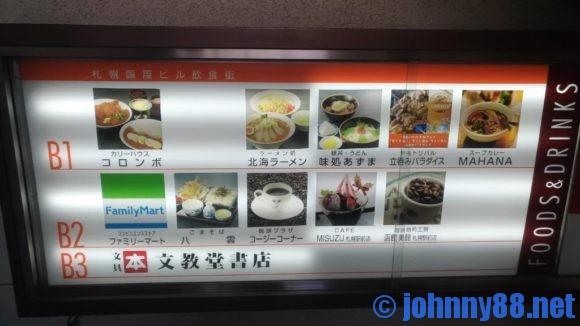 札幌国際ビル地下食堂街リスト