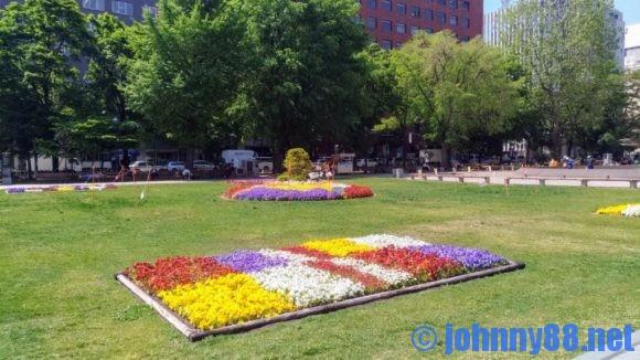 大通公園西3丁目の花壇
