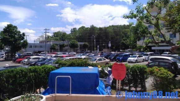 豊平区役所の駐車場