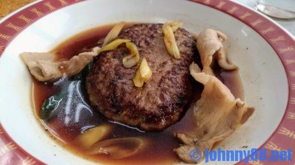 すき焼き風ハンバーグと白身フライ定食