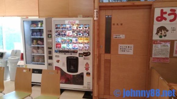 ちっくるの自動販売機と授乳室