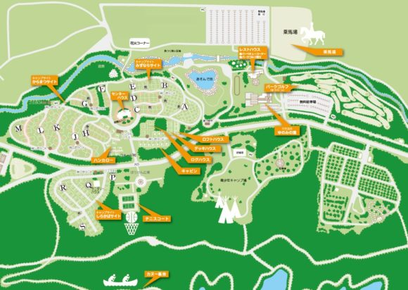 オートリゾート苫小牧アルテン内MAP