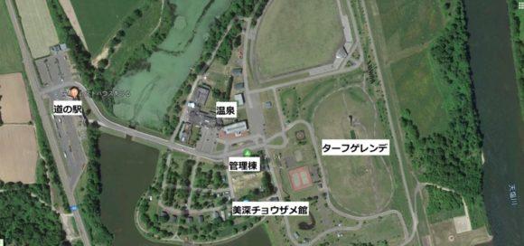 森林公園びふかアイランド周辺MAP