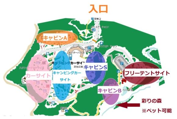 オートリゾート滝野詳細MAP