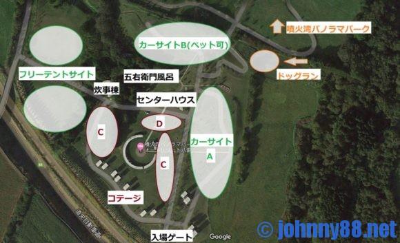 オートリゾート八雲MAP