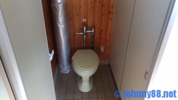 とままえ夕陽ヶ丘オートキャンプ場のトイレ