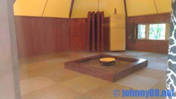 朝里川温泉オートキャンプ場のパオハウス