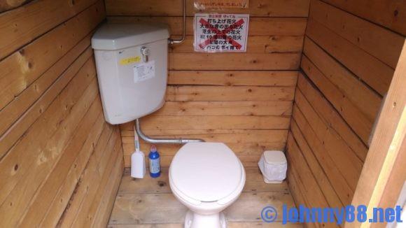朝里川温泉オートキャンプ場のトイレ