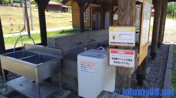 旭川市21世紀の森キャンプ場ファミリーゾーンの炊事棟